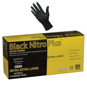 Ultra Fresh Black Nitro Plus Nitrile 300mm Powder Free Glove