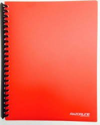 Razorline Refillable Display Book A4 20 Pocket Red