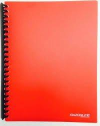 Razorline Refillable Display Book A4 20 Pocket Red