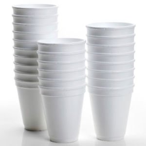 Disposable White Foam Cups 237ml (8oz) Box Of 1000