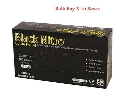 Black Nitrile Nitro Powder Free Disposable Gloves Carton