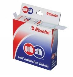 Product Quik Stik Dispenser Labels 24mm White Dot 1 Werko