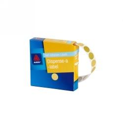 Product Avery Dispenser Labels 14mm Gold Dot DMC14GO 1 Werko