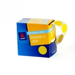 Product Avery Dispenser Labels 24mm Yellow Dot DMC24Y 1 Werko