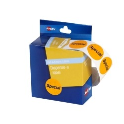 Product Avery Dispenser Labels 24mm Pre-Printed Circle Special Orange 500 Pack 1 Werko