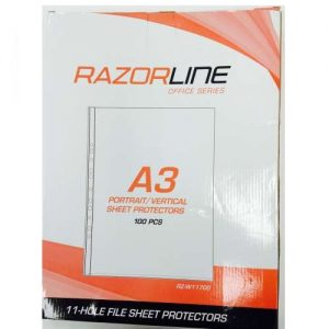 Razorline A3 Sheet Protectors Portrait 100 Pack