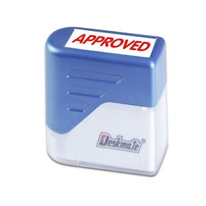 """Product Deskmate S/Inking Stamp 2 Colour """"APPROVED"""" 1 Werko"""