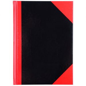 Cumberland 43100 Black & Red Notebook Gloss Cover A7 100 Leaf