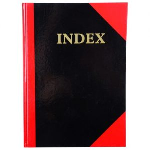 Cumberland 43128 Black & Red Notebook Gloss Cover A7 100 Leaf A-Z Indexed