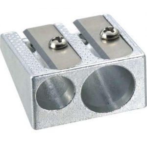 Deli Sharpener Metal Double Hole 12 Pack