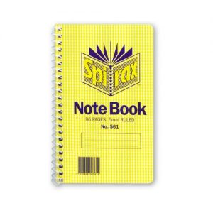 Spirax 561 Side Opening Spiral Notebook 147 X 87mm 96 Page