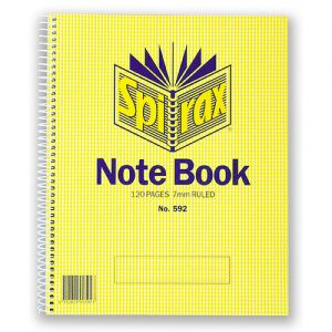 Spirax 592 Side Opening 222 X 178mm 120 Pages Spiral Notebook
