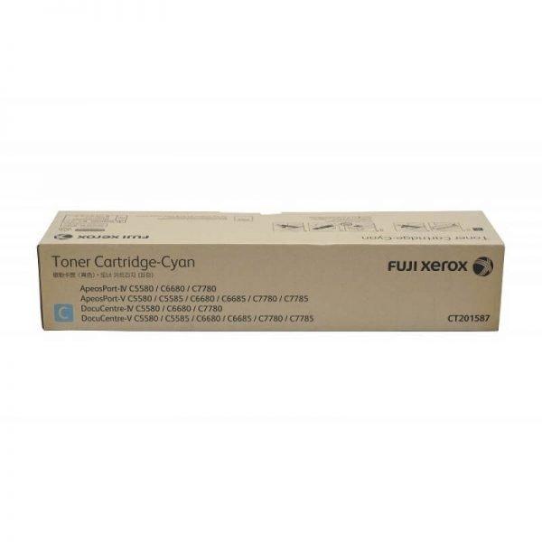 Genuine Fuji Xerox CT201587 Cyan Toner Cartridge