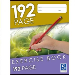 Sovereign 225X175mm 8mm Ruled Exercise Book 192 Page