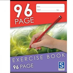 Sovereign 225X175mm 8mm Ruled Exercise Book 96 Page