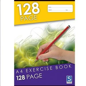Sovereign A4 8mm Ruled Exercise Book 128 Page