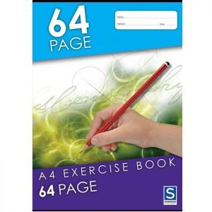 Sovereign A4 8mm Ruled Exercise Book 64 Page