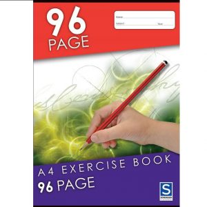 Sovereign A4 8mm Ruled Exercise Book 96 Page