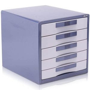 Deli Desk Filing Cabinet 5 Drw Lockable