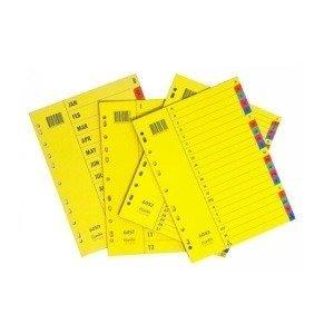 Bantex Divider A4 Manilla Jan-Dec Bright Indexes