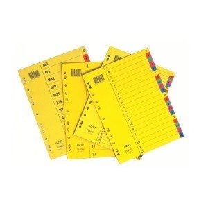 Bantex Dividers A4 Bright 1-31