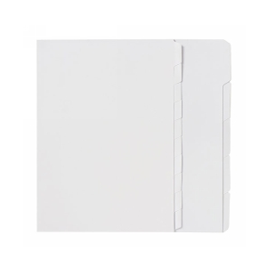 Marbig 37405 A4 Manilla 10 Tab Unpunched Dividers White