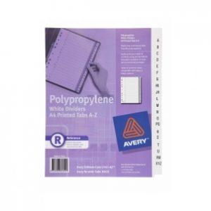 Avery Dividers A4 L7411-Az Pp White Printed A-Z