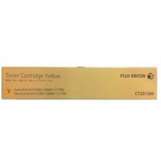Genuine Fuji Xerox CT201589 Yellow Toner Cartridge