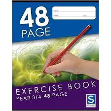Sovereign 225x175mm Year 3/4 Ruled Exercise Book 48 Page