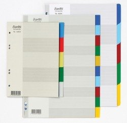 Bantex Polypropylene Coloured Dividers A4 5 Tab