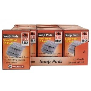 Redback Steel Wool Soap Pads 10 Pack