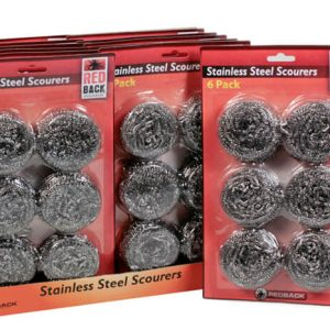 Redback Stainless Steel Scourers 6 Pack