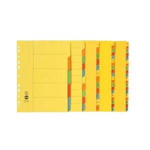 Marbig 37170 A4 Manilla 1-20 Tab Bright Dividers Multicolour