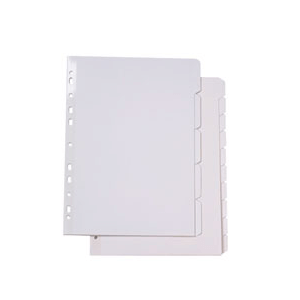 Marbig 37400F A4 Manilla 10 Tab White Dividers With Reinforced Strip White