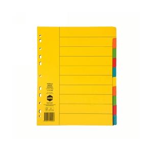 Marbig 37190F A4 Manilla 10 Tab Extra Wide Dividers Multicolour
