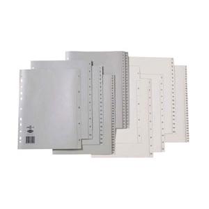 Marbig A4 Polypropylene 1-10 Numerical Indices Grey