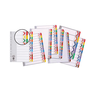 Marbig 35028F A4 1-31 Tab Coloured Dividers - Multicolour