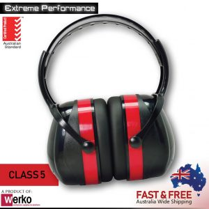 UltraSafe Extreme Performance Red Earmuffs