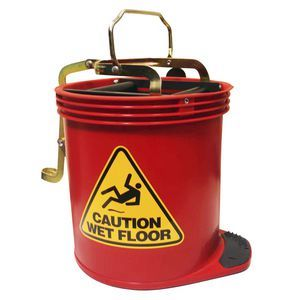 Redback Red Wringer Mop Bucket