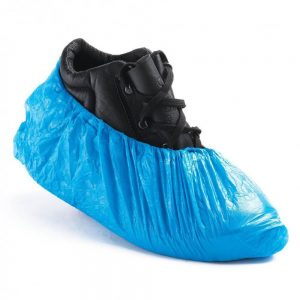 Genuine Disposable Heavy Duty Blue Polyethylene Shoe Covers Carton Of 1000