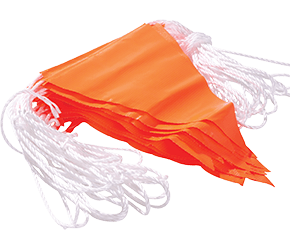 Maxisafe Orange PVC Bunting Flagline