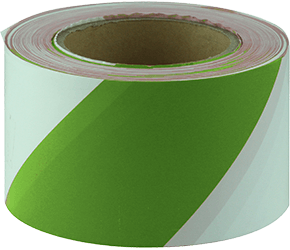 Maxisafe Green & White Barricade Tape