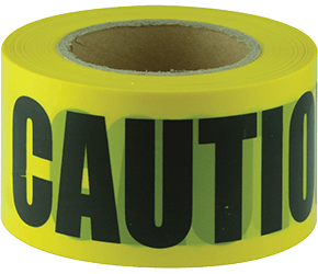 Maxisafe CAUTION black on yellow tape