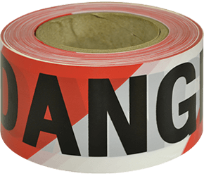 Maxisafe DANGER black on red/white tape
