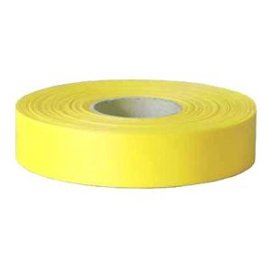 Maxisafe Fluro Lime Yellow Flagging Tape, 25mm x 100m Roll