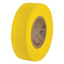 Maxisafe Yellow Flagging Tape, 25mm x 100m Rol