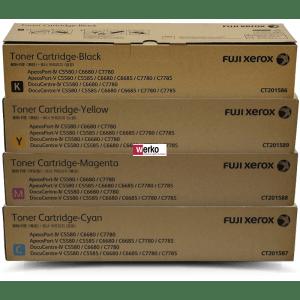 Fuji Xerox CT201586 CT201587 CT201588 CT201589 Toner Value Pack