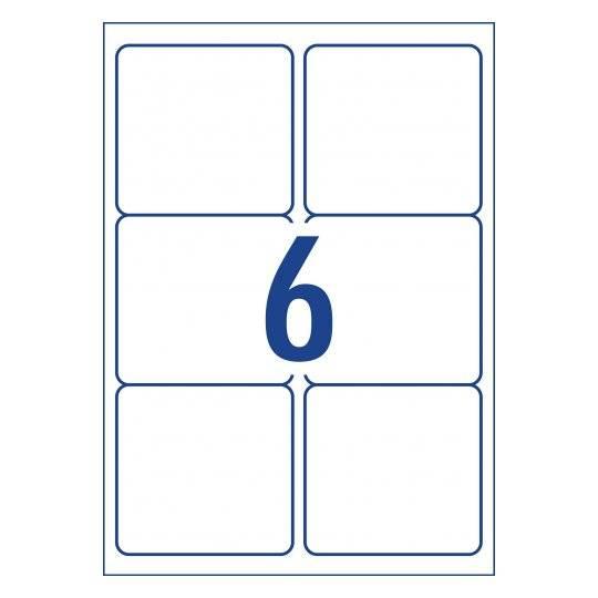 A4 Labels 6 Per Page 99.1×93.15mm 100 Sheets