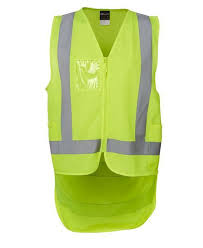 Hi Vis Yellow Safety Vest Drop Tail Pattern 6DNDV