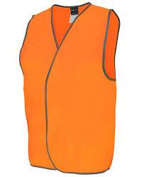 Hi Vis Orange Safety Vest 6HVSV